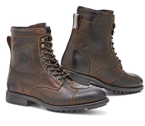 FBR039 - 0700-39 - Rev It Marshall WR Leather Motorcycle Shoes 39 Brown (UK 6)