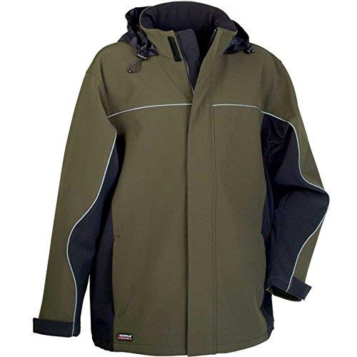 """Preisvergleich Produktbild Cofra V093-0-03.Z58 Softshell Jacke """"Norway"""", Schlamm Grau/Schwarz, 58"""