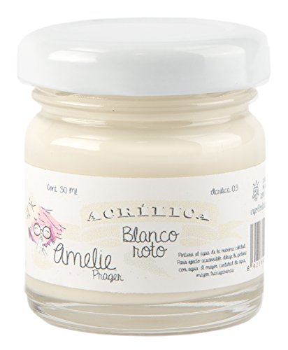 Amelie Prager AMA-03 Pintura Acrílica, Blanco Roto, 30 ml