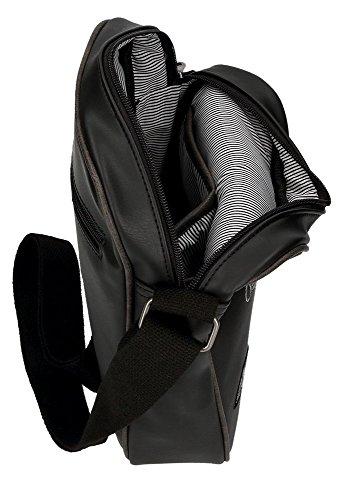 Pepe Jeans Duetone Borsa Messenger, 25 cm, 3.25 liters, Nero (Negro) Nero