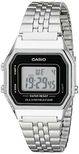 Casio LA680WA-1D - Reloj digital de cuarzo para mujer, correa de acero inoxidable color metalizado