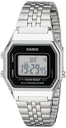 Casio Damen-Armbanduhr Vintage Digital Quarz Edelstahl LA680WA-1D