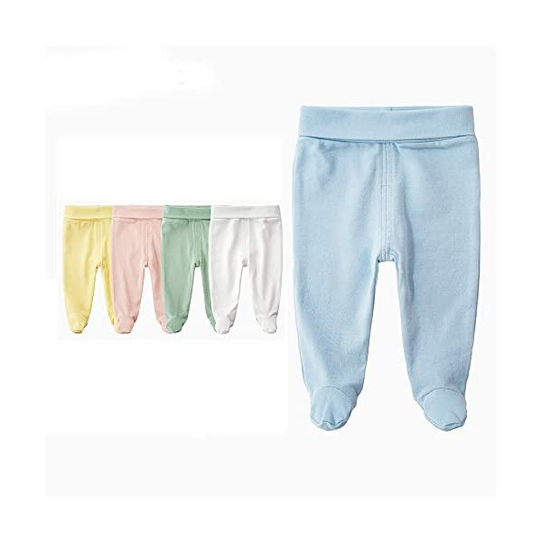 EBILUN Niños Algodón Cintura Alta Pantalones de pie, Leggings Casuales Medias elásticas Pantalones Pantimedias… 3