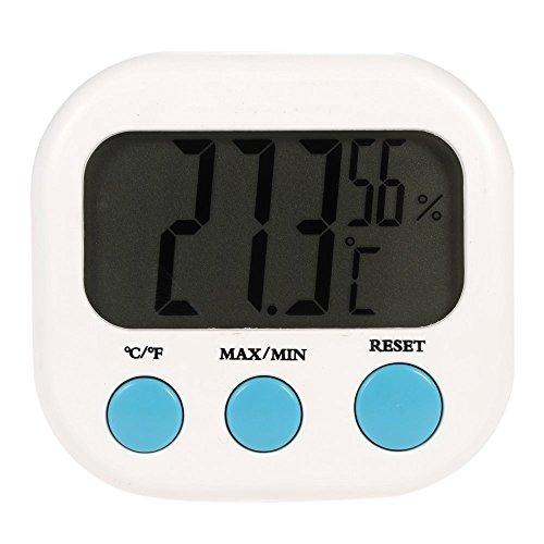 Anself ° C / ° tester di umidità del termometro igrometro massimo valore minimo visualizzato F Temperatura interna Mini
