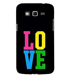 FUSON Love Multicolor 3D Hard Polycarbonate Designer Back Case Cover for Samsung Galaxy A8 (2015) :: Samsung Galaxy A8 Duos (2015) :: Samsung Galaxy A8 A800F A800Y