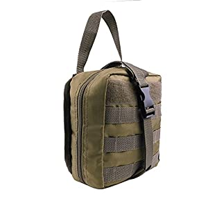 Taktische MOLLE Erste Hilfe EMT Medizinische Notfalltasche, EDC Militär Erste Hilfe IFAK Utility Tasche für Outdoor Wilderness Camping Wandern (nur Tasche)