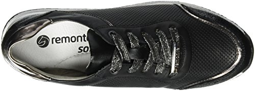 Remonte Damen R7000 Sneakers Schwarz (schwarz/altsilber/schwarz/Schwarz / 02)