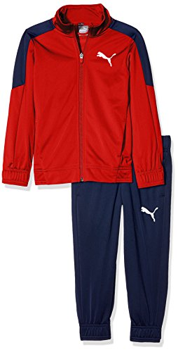 Puma Kinder L Logo Tricot Suit (Cl) Trainingsanzug, Flame Scarlet, 164