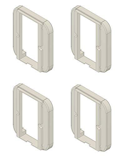 Samotech® Light Switch Cover for Philips Hue Dimmer - Adapter - Converter (SM200-4 Pack)