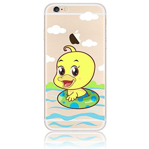 iPhone 6 Plus Case (5.5 pollice), Bonice iPhone 6S Plus Cover,Bonice Colorato Ultra Thin Morbido TPU Silicone Rubber Clear Trasparente Back Creativo Case –pulcino 02 model 15