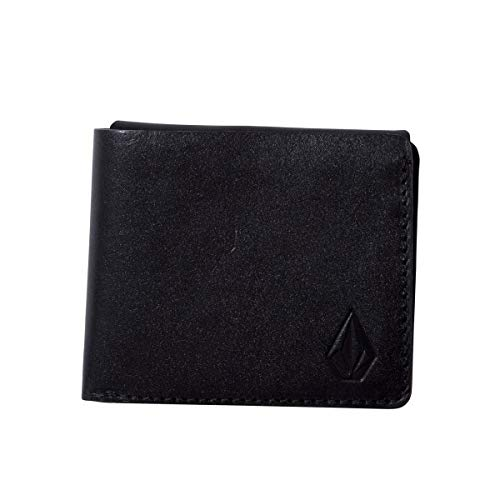 Volcom Cartera 3Fold Leather - Hombre Cartera - Black