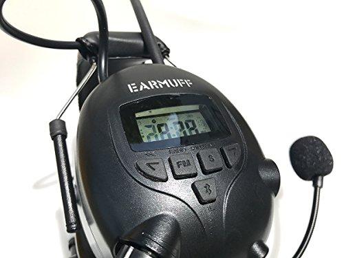 2017 DS-Alert EARMUFF dynamischer 31dB Gehörschutz mit BLUETOOTH und Surround Umgebungswahrnehmung - Extra robuster Radio Kapsel Gehörschutz Kopfhörer mit SmartPhone Anschluss inkl. AUX Kabel - 6