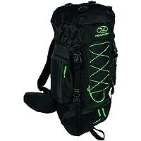 Highlander Rambler Rucksack ― Small, Medium & Large Unisex Backpacks for Men & Women Hiking, Rambling, Backpacking, Trekking ― Black Water Resistant & Breathable Bag