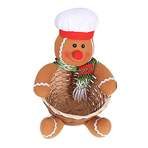 Rstant Aufbewahrungskorb für Weihnachten, Obst, Süßigkeiten, Schreibtisch, Dekoration, Aufbewahrungsbox, Geschenkkorb, Weihnachtsdekoration, rot, E