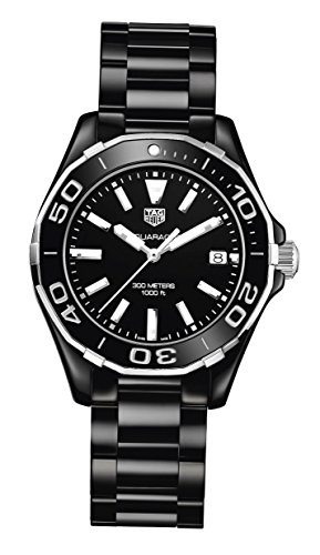 TAG HEUER WOMEN'S AQUARACER 35MM CERAMIC BAND QUARTZ WATCH WAY1390.BH0716
