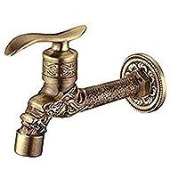 ttymei Antique Bronze Dragon Carved Tap Animal Shape Faucet Garden Bibcock Washing Machine Faucet Outdoor Faucet for Garden Faucet