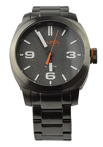 Hugo Boss Orange Reloj de Hombre Reloj de Pulsera Watch 1513420 Cape Town Acero Inoxidable Gris