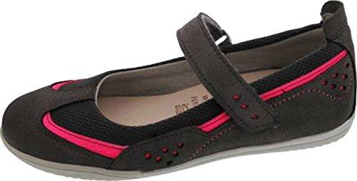 Däumling Ballerina, festliche Schuhe, Mädchen Ballerina grau-pink (Turino smoked)