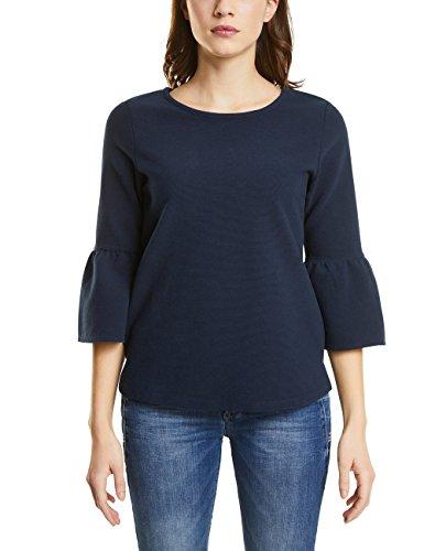 Street One Damen 311836 Langarmshirt, Blau (Deep Blue 11238), 38 - Blaue Streifen-blues Shirt