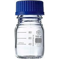 neoLab E-1429 Laborflaschen, GL 45, 100 mL, Iso-Gewinde, Kappe + Ausgießring (10-er Pack)