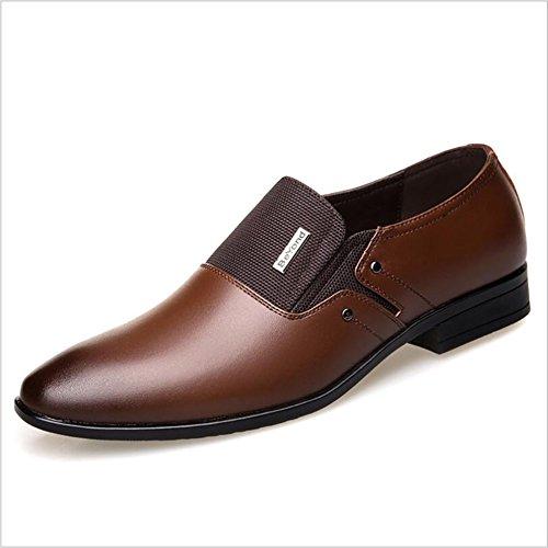 Herren Lederschuhe Frühling/Herbst Komfort/Mode Stiefel wies Gummisohle Formale Business Schuhe Hochzeit & Abend Lederschuhe (Farbe : B, Größe : 44) (Komfort Stiefel)