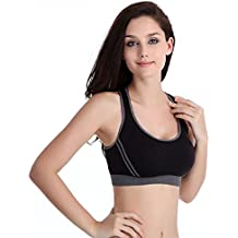 Susenstone Le nuove donne Reggiseno imbottito Top Athletic Vest Palestra Fitness Sport Yoga Stretch (nero, S)