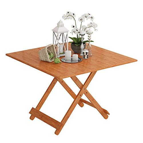ZHPBHD Studententisch der kleinen Tabelle des festen Holzbodentischbodens der Bambustischkinder der...