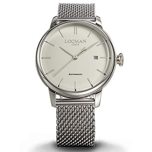 Armbanduhr LOCMAN Classic 19600255a05a-00avnkb0Schalter Stahl Quandrante weiß Armband Stahl