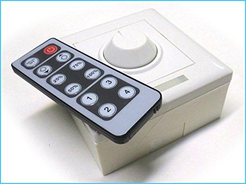 Led Dimmer PWM Kit Controller Segnale PWM Con Rotella e Telecomando IR Per Striscia Bobina Led 12V…, Con Kit-led