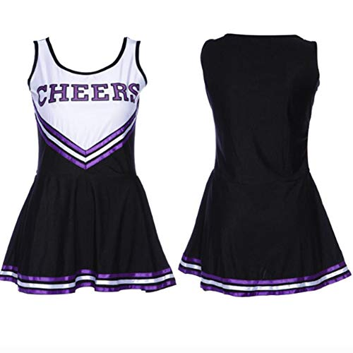 ZYUNYUN Cheerleader Kostüm Outfit Uniform High School Musical Sexy Dessous Weibliche Cheerleading Uniformen Performance Kleidung, Extra Large,B,L