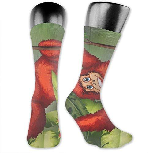 Active Orangutan Unisex Casual Mannschaftssocken Daily Sports Socks Knee Socks