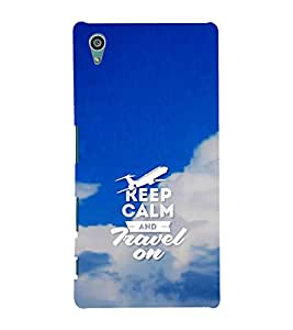 Fuson Designer Back Case Cover for Sony Xperia Z5 :: Sony Xperia Z5 Dual 23MP (Keep Calm Be Quiet BE Cool Aeroplane Blue Sky)