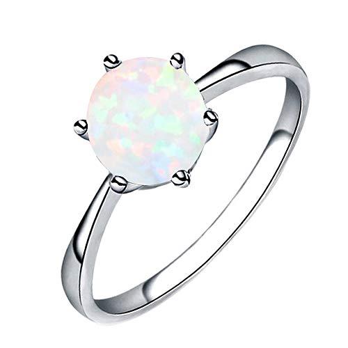 Opal Ring Sechs Klaue Intarsien Schmuck YunYoud perlenring accessoires stahlring vorsteckring saphir fingerringe freundschaftsringe günstige partnerringe damenschmuck perlenringe