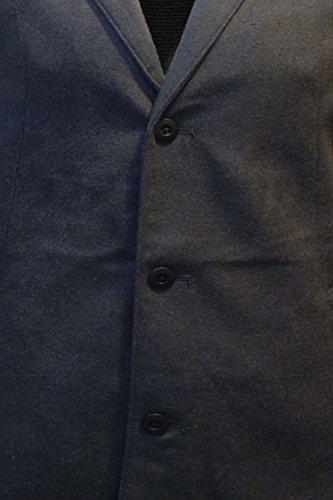 Threadbare Herren Trenchcoat Jacke grau grau Small Charcoal Grey Marl