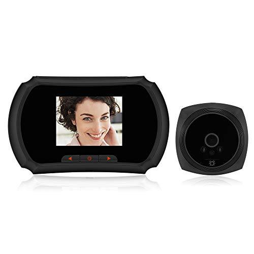 OWSOO 1.3MP Mirilla Digital con Pulgadas Pantalla LCD Soporte Toma de Fotos, Grabación de Vídeo para Seguridad del Hogar, Negro