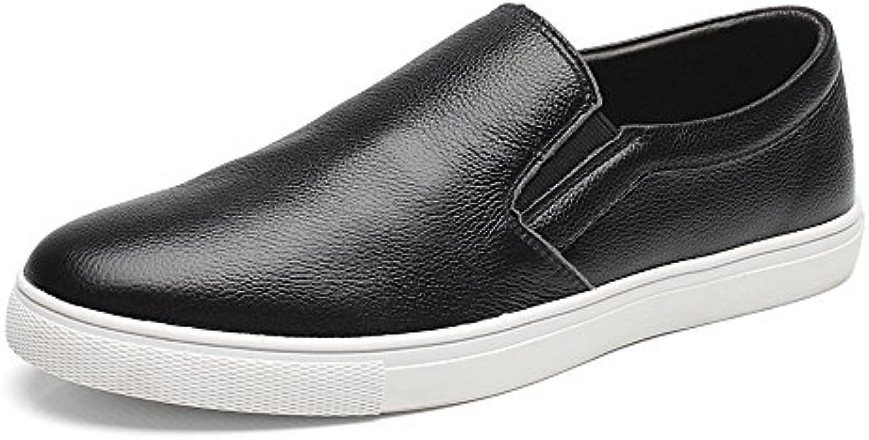 SunnyBaby Herren Schuhe aus echtem Rindsleder Obermaterial Slip On Flachsohle Loafer für Herren Abriebfeste (
