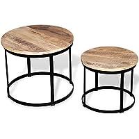 Tavolini In Legno Grezzo Da Salotto.Amazon It Tavolo Legno Grezzo Tavoli E Tavolini