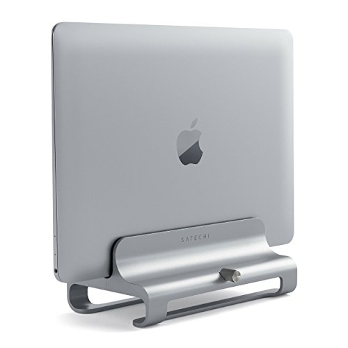 Satechi Universaler Vertikaler Aluminium Laptop Ständer für MacBook, MacBook Pro, Dell XPS, Lenovo Yoga, Asus Zenbook, Samsung Notebook und weitere Modelle (Silber) (Iphone 5 Aluminium Home Button)