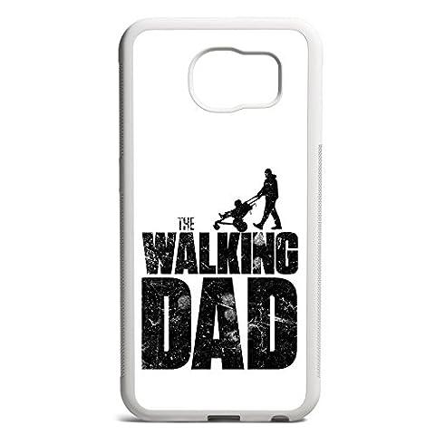 Smartcover Case The Walking dad z.B. für Iphone 5 / 5S, Iphone 6 / 6S, Samsung S6 und S6 EDGE mit griffigem Gummirand und coolem Print, Smartphone Hülle:Samsung S6 EDGE (Staffel 4 Walking Dead)