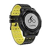 WETERS Fitness Tracker Aktivität Tracker Uhr Pulsmesser Wasserdicht Bergsteigen GPS-Track Sport Armband,Yellowblack