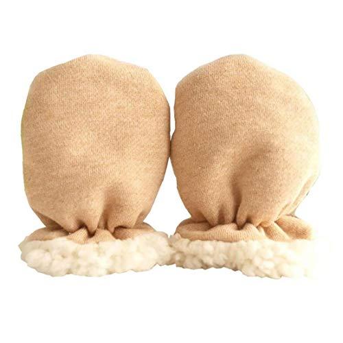 Nicedeal Newborns Anti Scratch Fäustlinge weiche Baumwollsäuglingskleinkind-Handschuhe Baby-Fäustlinge Bequeme Fleece Warme Handschuhe 1 Paar
