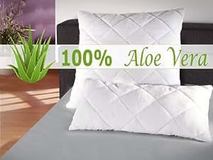 klassisches Kopfkissen - Aloe Vera - für erholsamen Schlaf - geprüft nach Öko-Tex Standard 100 - in 2 verschiedenen Größen, 80 cm x 80 cm