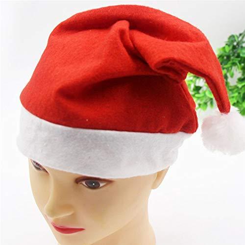 Bihood Santa Hat Santa Hüte für Erwachsene Santa Hüte für Kinder Santa Hüte Bulk Weihnachten Hut Weihnachten Hüte für Erwachsene Weihnachten Hüte für Kinder Weihnachten Hüte Großkinder (Bulk Hüte Weihnachten)