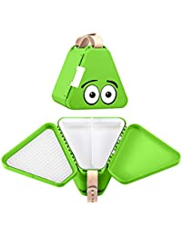 teebee – Kids Travel Toy Box   Activity Tray and Suitcase for Car and Plane   Creative play in the seat for children and toddlers   Boys and Girls   Lime Green
