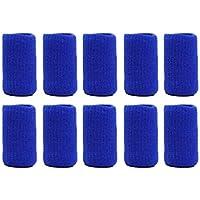 Sanzhileg 10 Teile/Paket Basketball Volleyball Sport Professionelle Finger Schützende Fingerball Nylon Sicherheit Elastische Finger Caps - Blau