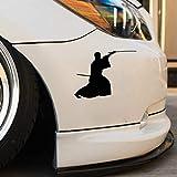 auto aufkleber auto aufkleber 14cm x 10,8 cm kreative Mode japanischen Samurai Sportwagen Aufkleber s für Auto Laptop Fenster Aufkleber
