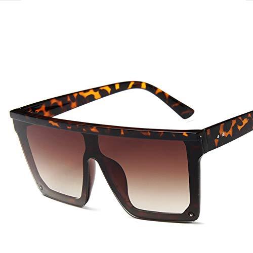 TYZDY Sonnenbrille mode box persönlichkeit brille-brown
