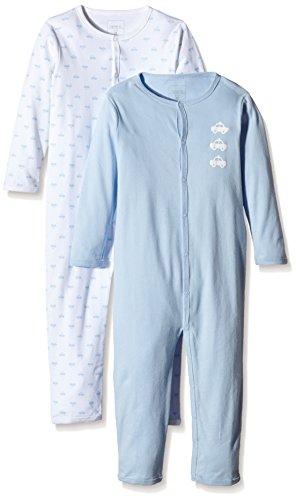 NAME IT Baby-Jungen Schlafstrampler NITNIGHTSUIT M B NOOS, 2er Pack, Gr. 80, Mehrfarbig (Cashmere Blue)