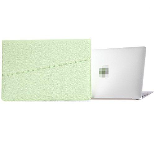 Preisvergleich Produktbild MacBook Laptop Hülle Sleeve, LIANG 13.3 Zoll NoteBook Leder Tasche Hülle Sleeve Für MacBook Air 13 MacBook Pro Mit Retina 13 MacBook Pro 13 Mit Touch Bar iPad Pro 12.9 Hülle Sleeve (13.3 Zoll, grün)