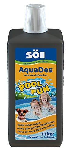 Söll AquaDes 1 l, Pool und Planschbecken Desinfektion, Keine allergischen Reaktionen, roten Augen, pH-Wert-Messung - Jahr-etiketten